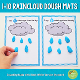 1-10 Raincloud Counting Playdough Mats