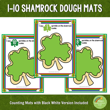 1-10 Shamrock Cookie Counting Mats