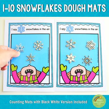 1-10 Snowflakes Counting Playdough Mats