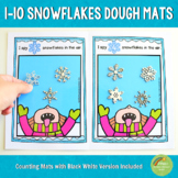 1-10 Snowflakes Counting Playdough Mats
