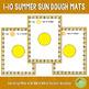 1-10 Sun Playdough Counting Mats