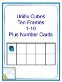 1-10 Ten Frame Cards Plus Number Word Cards Unifix Cube Theme