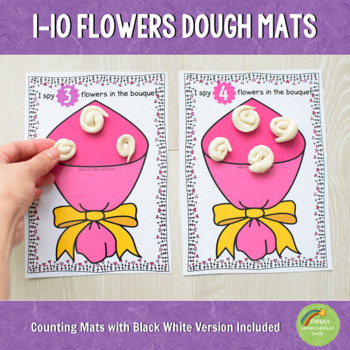 1-10 Valentines Day Counting Playdough Mats