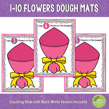 1-10 Valentine's Day Counting Playdough Mats