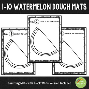 1-10 Watermelon Counting Playdough Mats
