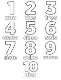 1-10 coloring pages (Spanish)