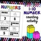 1 - 10 counting number activities for preschoolers, pre-k,