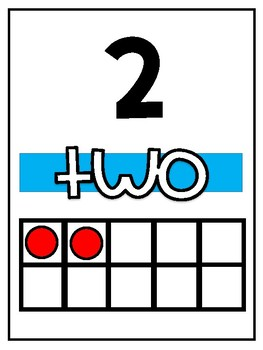 1-10 number chart posters and center activity.
