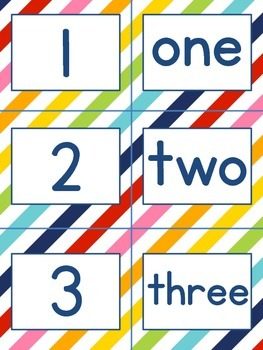 1-10 number pack PLUS flashcards