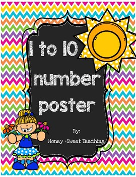 1-10 number posters