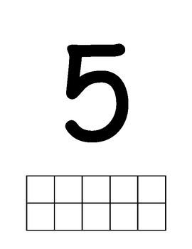 1-10 #s and Ten Frame Mats