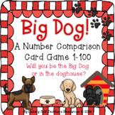 "1-100 Big Dog Number Comparison Game - ""War"" with a Twist"