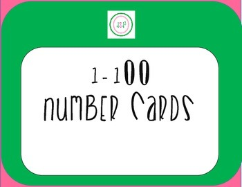 1-100 Cute Number Cards