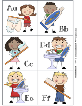 1,100 Followers FREEBIE! Dental Hygiene Alphabet Cards With Games