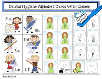 Free Dental Hygiene Alphabet Cards With Games