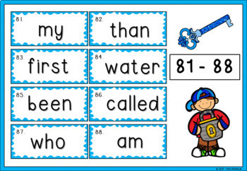 1 - 100 Fry Sight Words / High Frequency Wall Posters