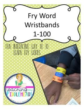 1-100 Sight Word Wristbands  Freebie!