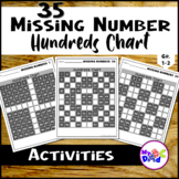 Missing Numbers 100s Chart Math Worksheets