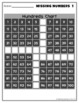 Missing Numbers 1 to 100 Hundreds Chart Math Worksheets