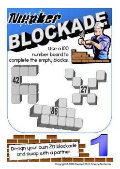 NUMBER BOARD (1-100): Number Blockade Activity Pack