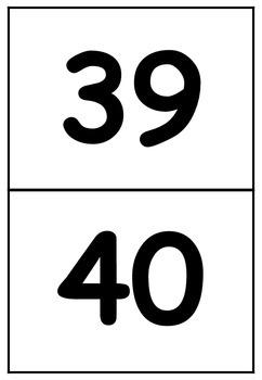 1 - 100 Number Cards