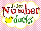 1 - 100 Number Ducks