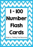 1 - 100 Number Flash Cards Set 2