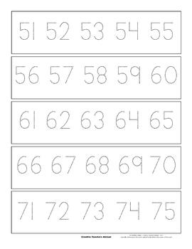 1-100 Number Line