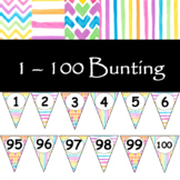1 - 100 Number bunting