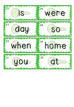 1 - 100 OWL Sight Words / High Frequency Words - Small Flash Cards