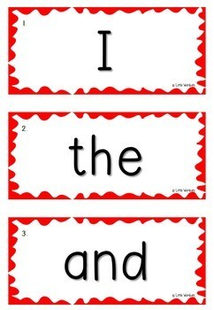 1 - 100 Oxford Word List OWL Sight Words Flash Cards - Large