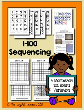 1-100 Sequencing - A Variation of the Montessori 100 Board