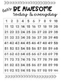 1-100 Whole Class Behavior Chart Poster (18x24)