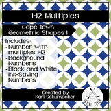 1-12 Multiples Posters - Cape Town Geometric Shapes 1