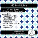 1-12 Multiples Posters - Cape Town Geometric Shapes 2