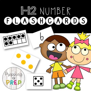 1-12 NUMBER FLASHCARDS