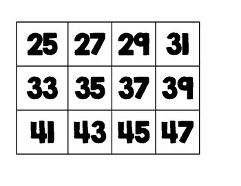 1-120 Chart numbers