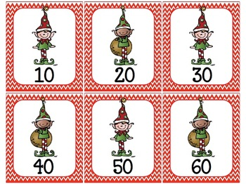 1-120 Elf Counting Cards