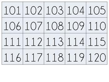 1-120 Flashcards {freebie}