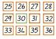 1-120 Number Cards
