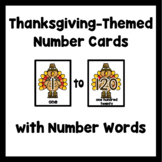 Number Flash Cards 1-120: Turkeys