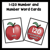 Number Flash Cards 1-120 with Work Mats: Apples