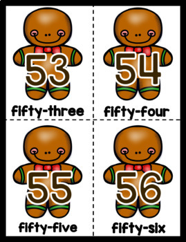 1-120 Number and Number Word Cards: Fall Bundle