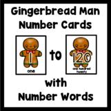 Number Flash Cards 1-120: Gingerbread Men