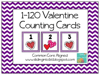 1-120 Valentine Counting Cards