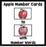 Number Flash Cards 1-120: Apples