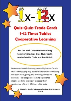 Quiz Quiz Trade 1-12 Times Table Cards Multi-Pack