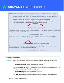 1.13 - Reflexive & Intensive Pronouns