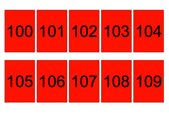 1-150 Numeral Cards