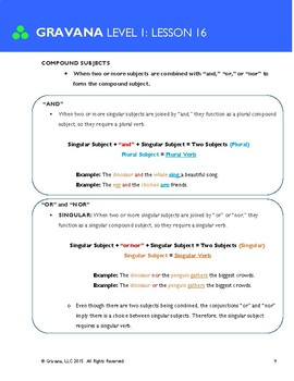 1.16 - Subject + Verb Agreement